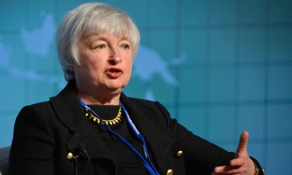 Janet Yellen, présidente du Conseil des gouverneurs de la Réserve fédérale des États-Unis.