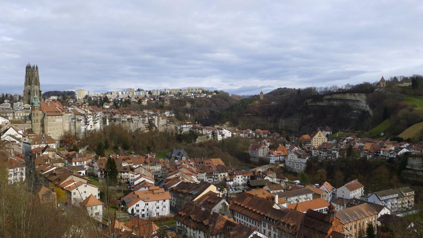 Centre de la ville de Fribourg. DR.